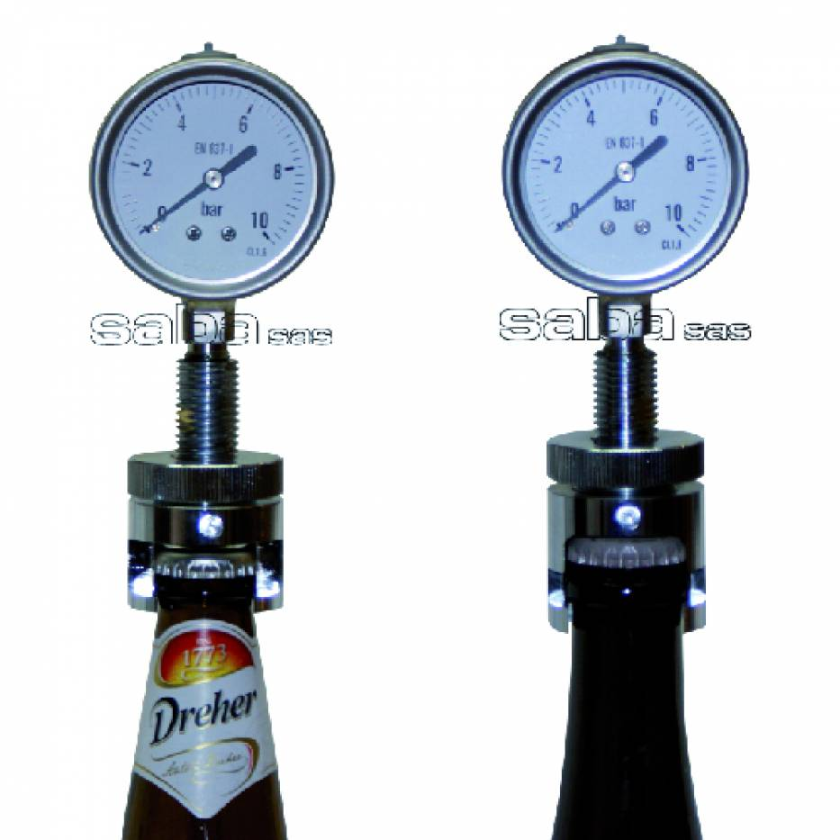 Aphrometer for crown cap