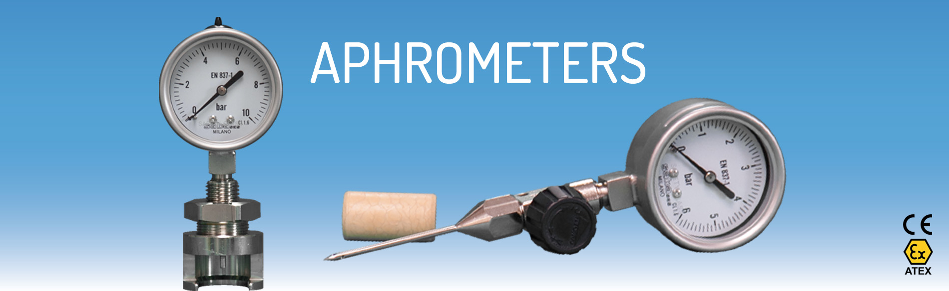 Aphrometer for crown cap and bootles