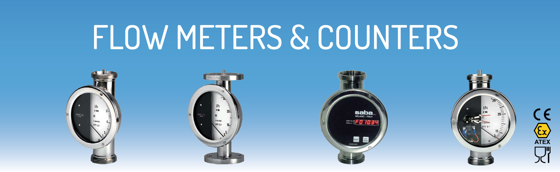 Flow meters & counters