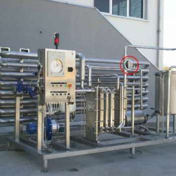 Flow meter on Wine pasteurizer